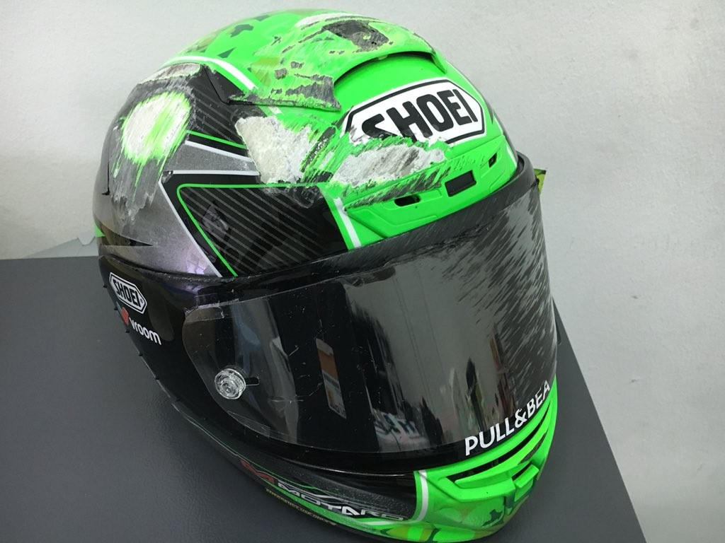 Laverty Helmet Crash